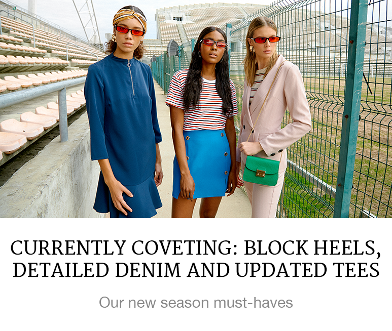 Currently Coveting: Block Heels, Detailed Denim and Update Tees