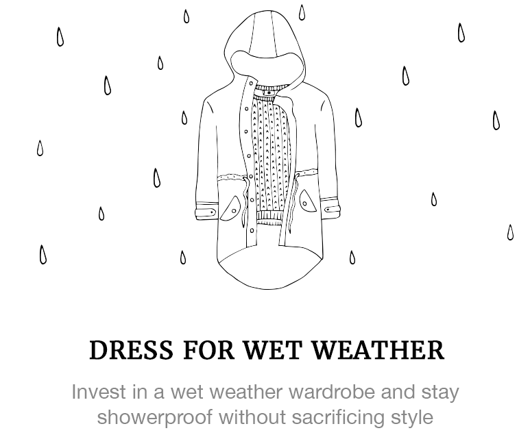 Dress for wet weather