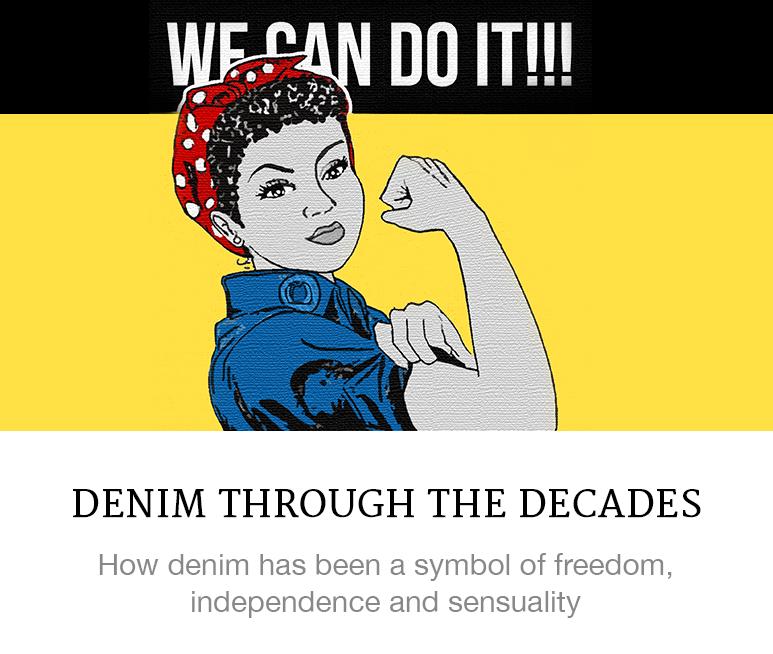 denim through the decades