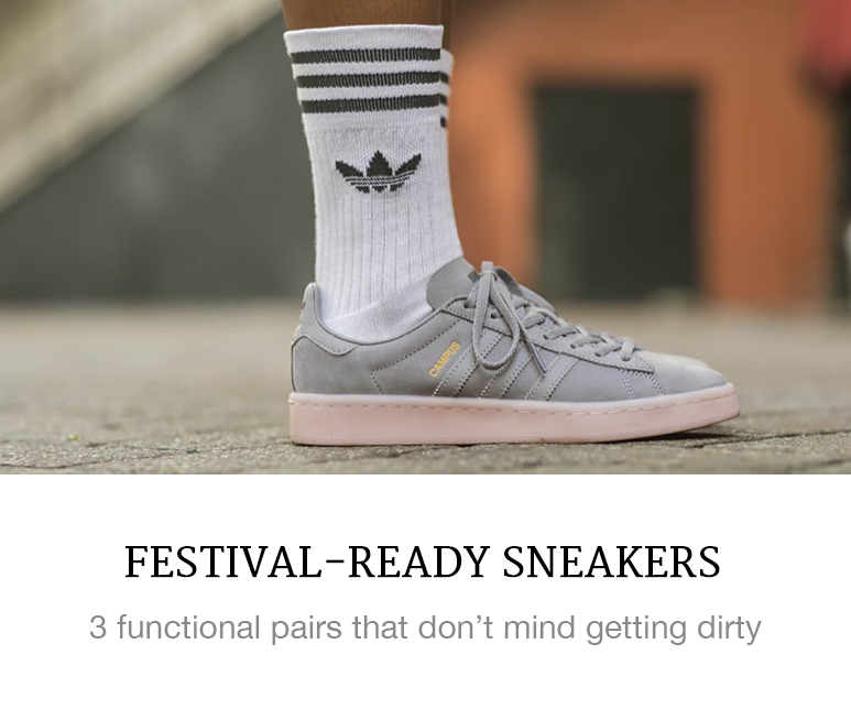 sneakers for festivals