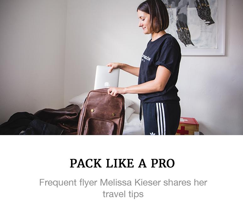 melissa kieser pro packing tips travel superbalist blog