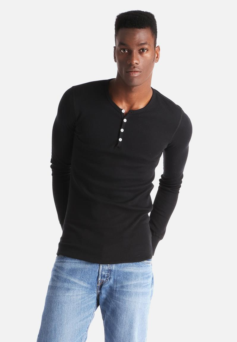 Baby thermal black american apparel t shirts for Mens black thermal t shirts