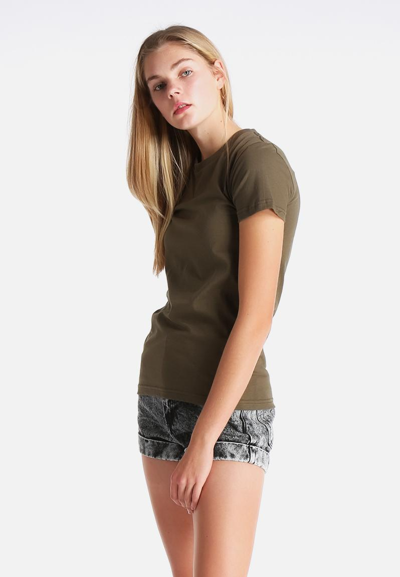 Fine Jersey Short Sleeve Tee Army American Apparel T