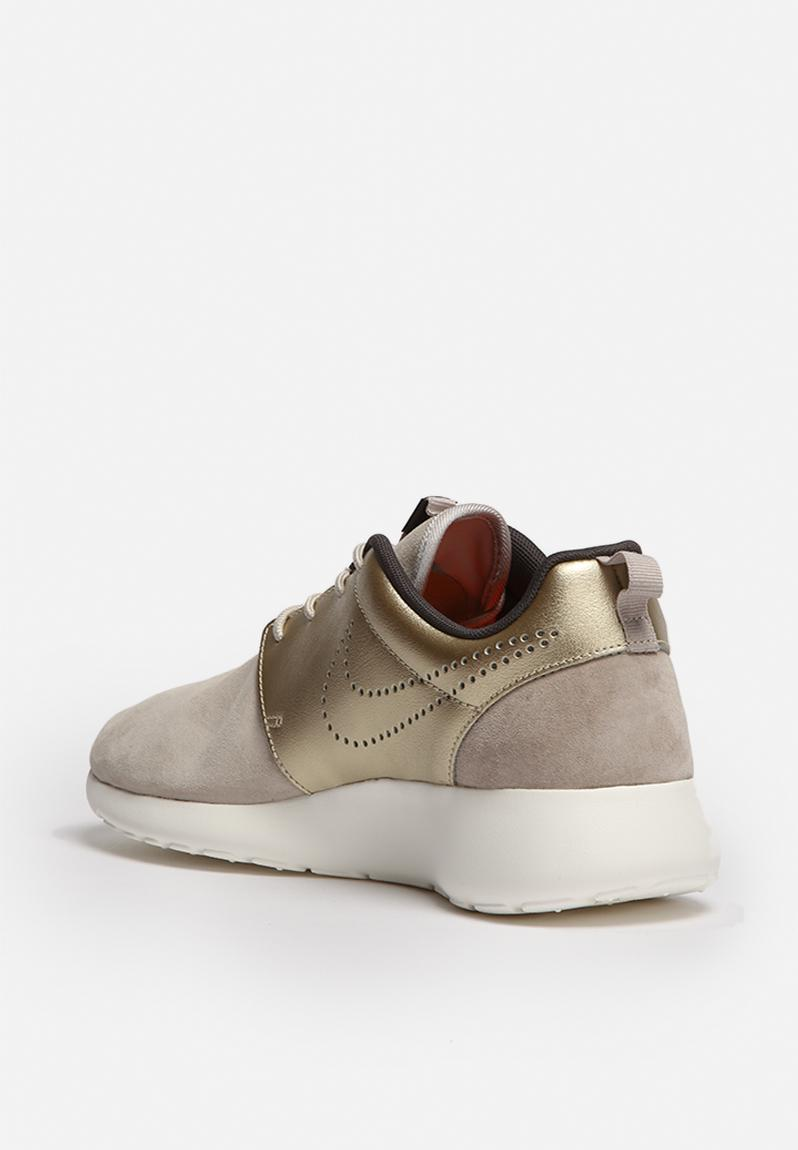 Nike Roshe One Premium Suede Metallic Gold