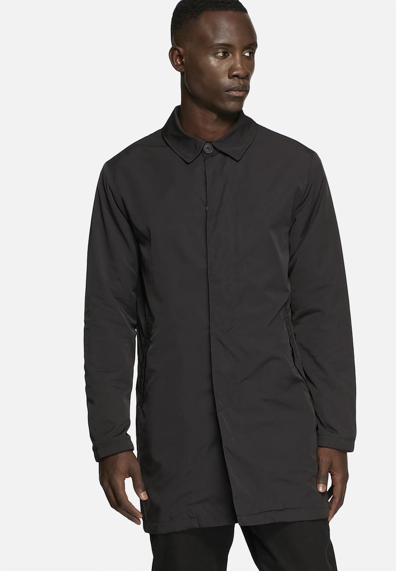 Black Nylon Coat 115