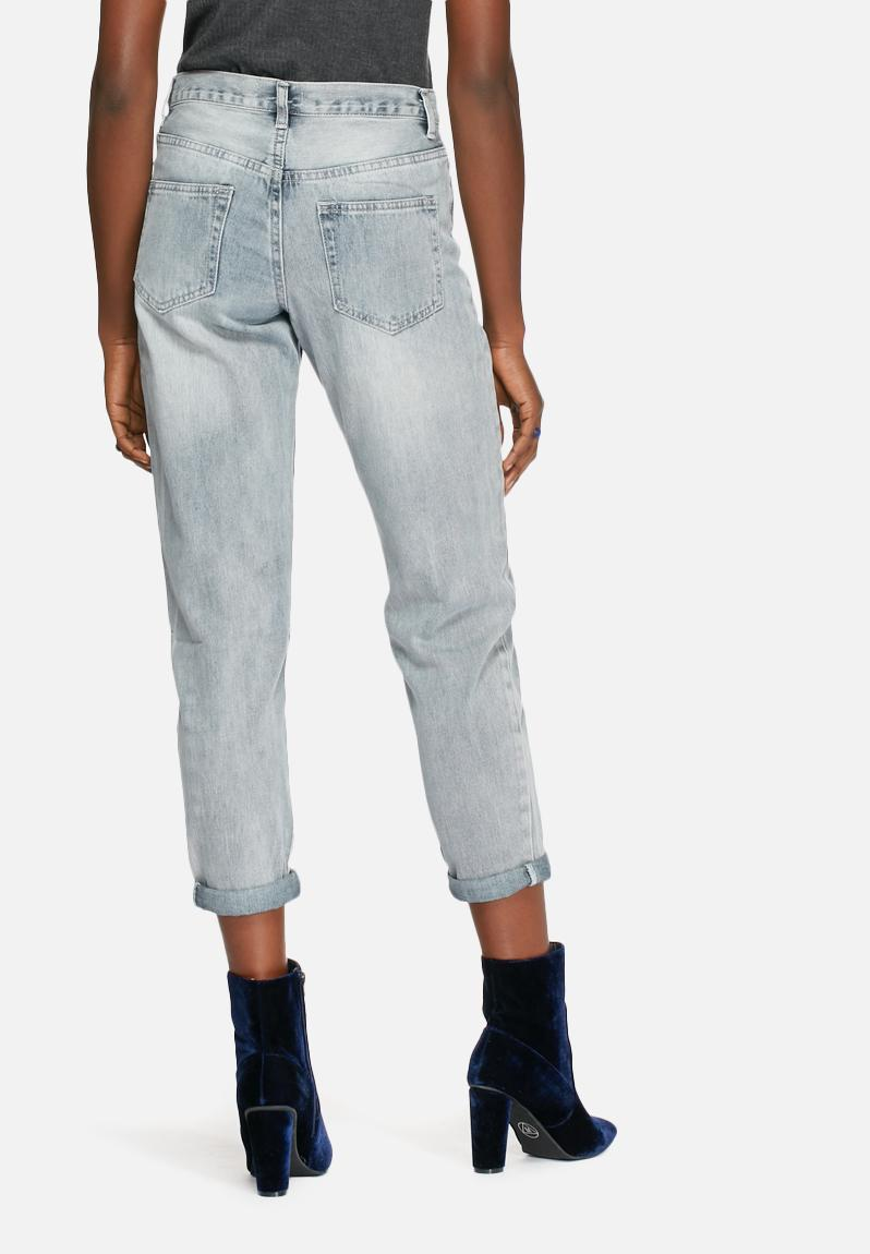 Embroidered jeans blue glamorous superbalist