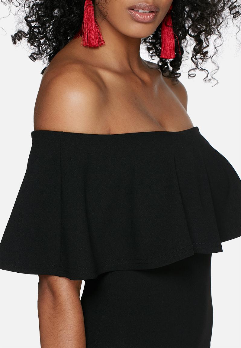Black bodycon dress off the shoulder zimbabwe plus size