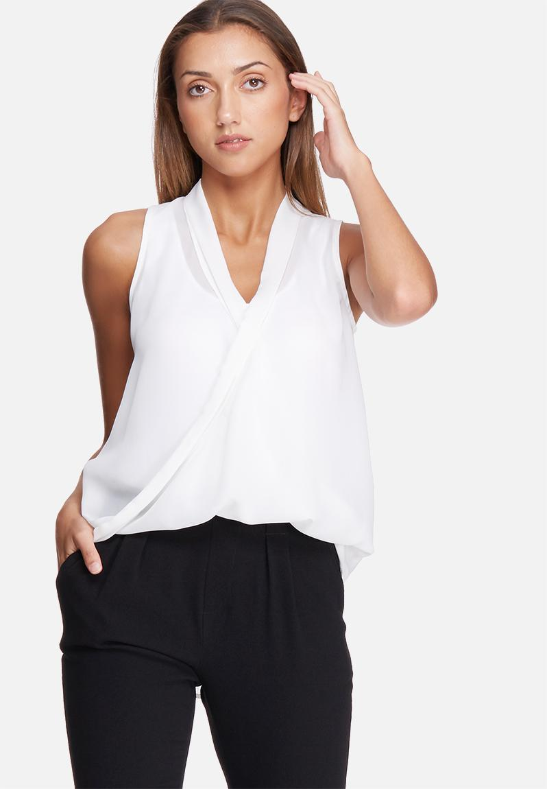 Sleeveless wrap front top - ivory dailyfriday Blouses ...