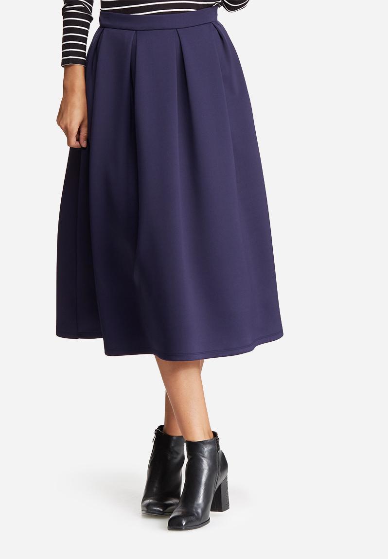 pleated midi skirt navy dailyfriday skirts