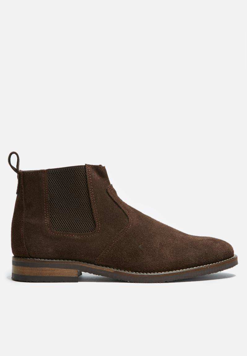 cameron leather chelsea boot brown suede basicthread