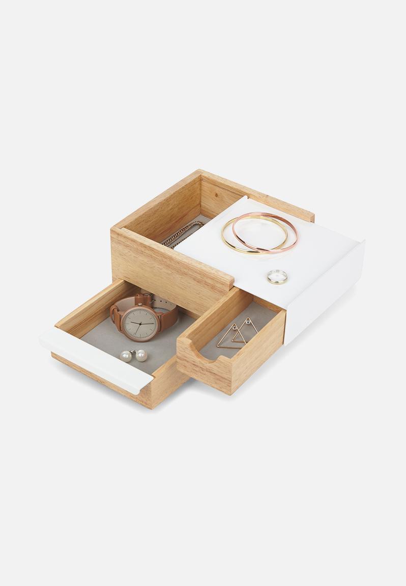 Mini Stowit Jewellery Box Natural Umbra Organisers