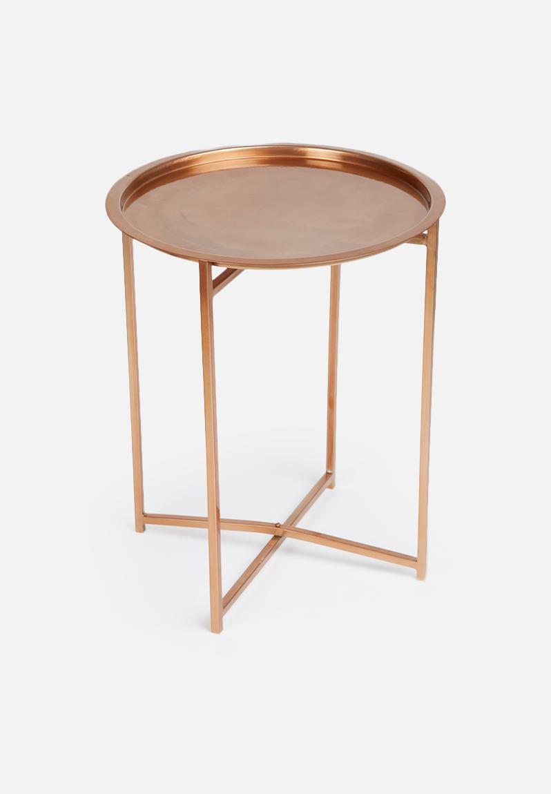 Copper side table sixth floor desks for Table y copper