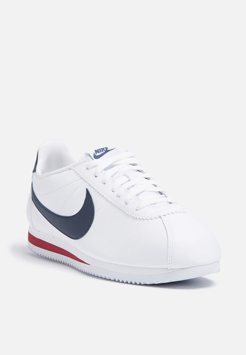 Nike Classic Cortez Leather 'Alternate' - 749571-146 - White / Midnight Navy  / Gym Red Nike Sneakers | Superbalist.com