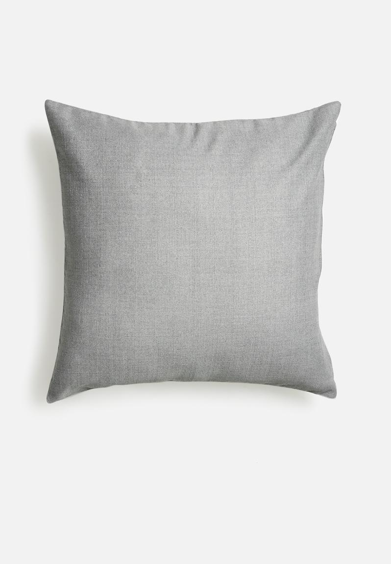 Grey smoke cushion - neutral grey Sixth Floor Scatter Superbalist.com