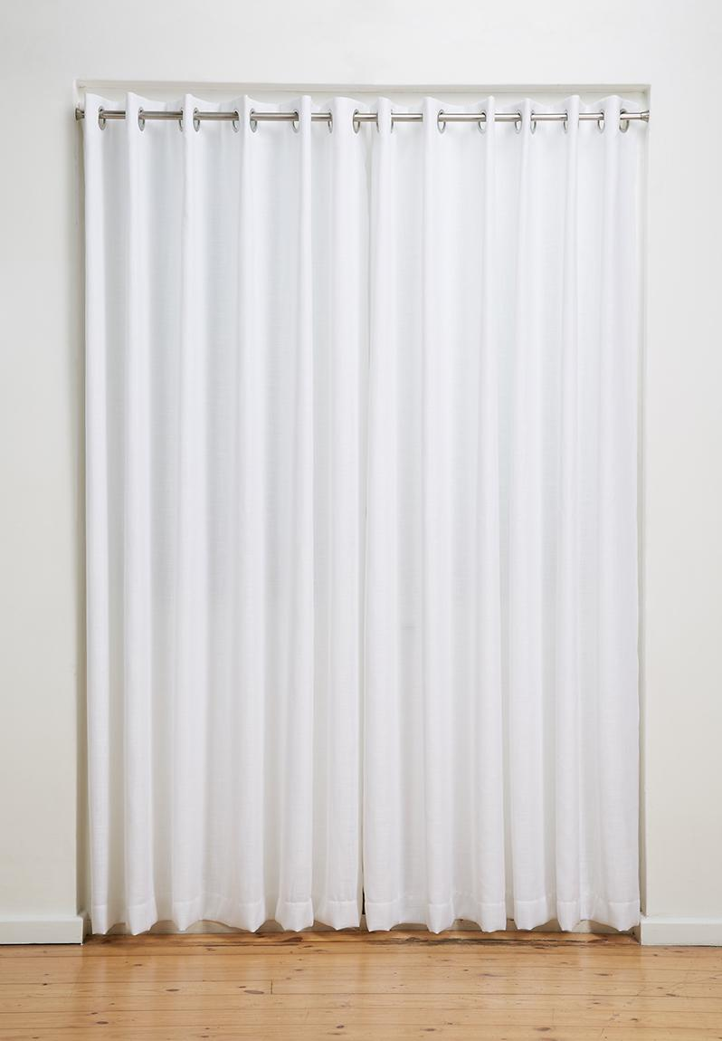 Eyelet Curtain White 8 Sixth Floor Curtains