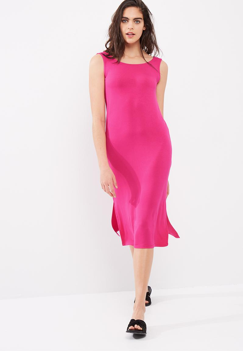 Low back midi dress - pink dailyfriday Casual ...