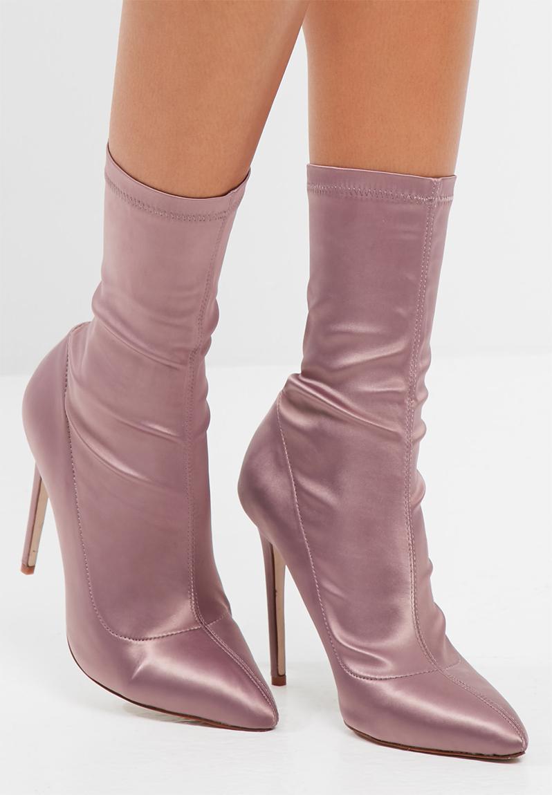 Girls Lilac Satin Shoes