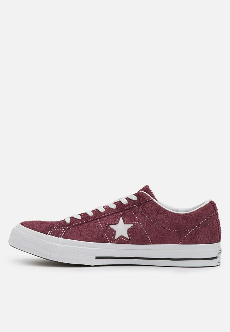 converse one star deep bordeaux