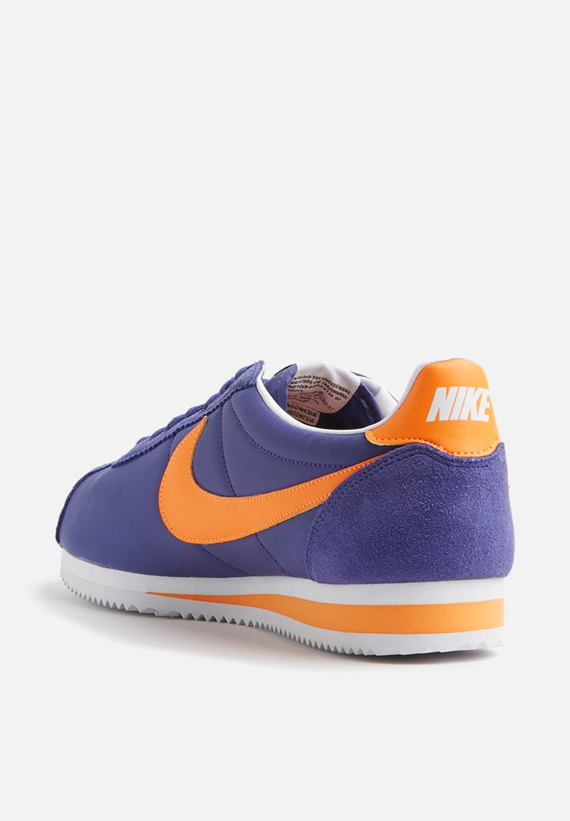 Nike Classic Cortez Nylon Yellow Blue Black Shoes