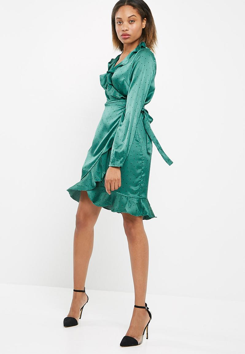 Henna satin wrap dress - Bayberry Vero Moda Formal | Superbalist.com