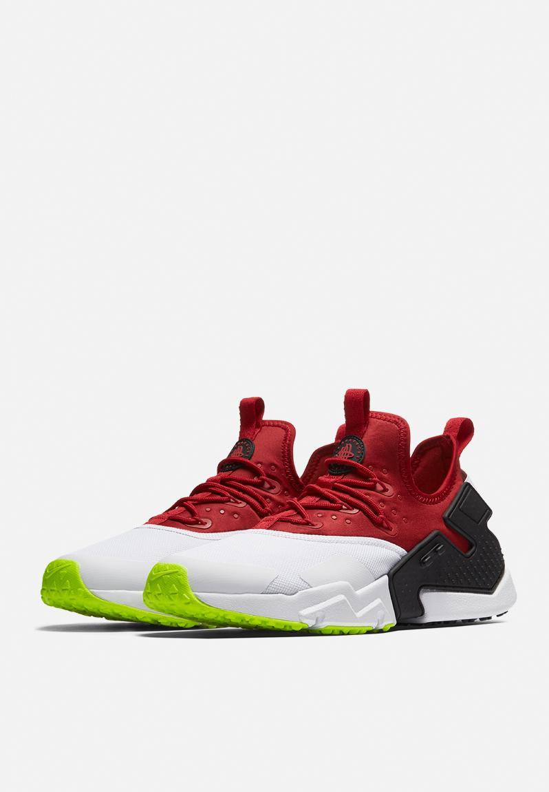 AIR HUARACHE DRIFT - Sneaker low - gym red/white/black/volt tk04E