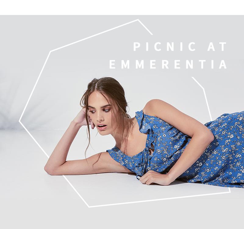 Missguided Floral print tea dress