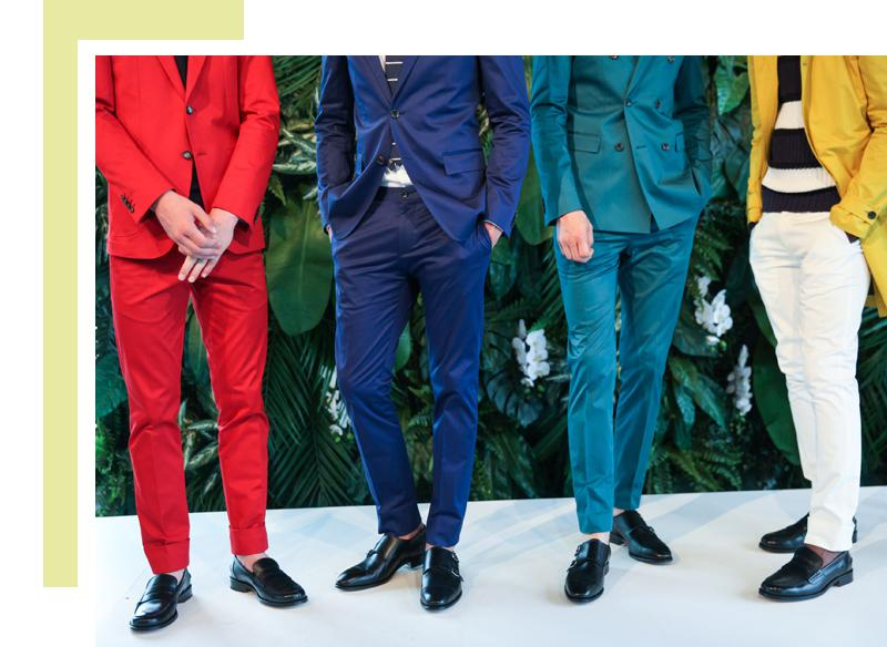 wearing colour at a wedding