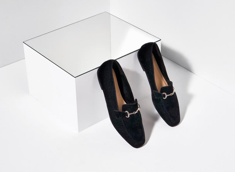 Missguided velvet loafer