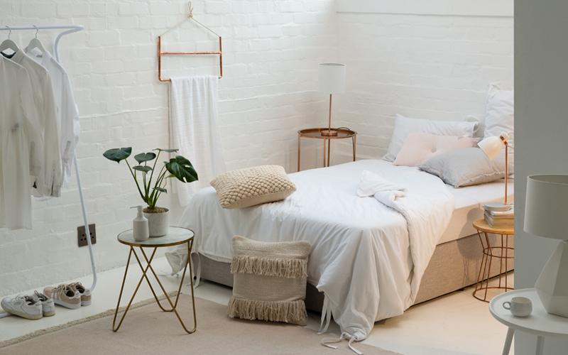 all white bedroom