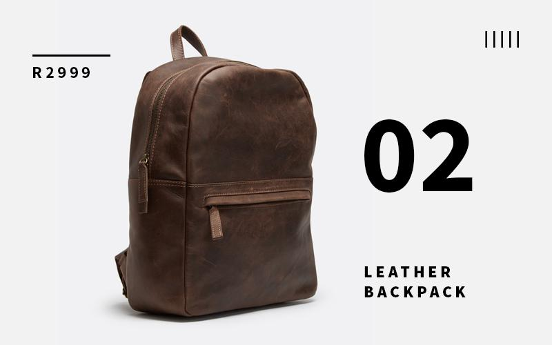 FSP Collection leather backpack