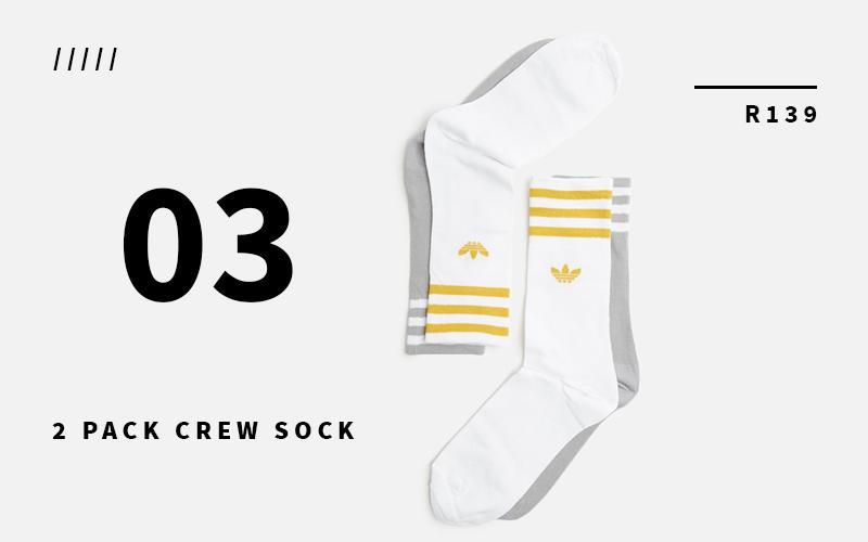two pack trefoil socks