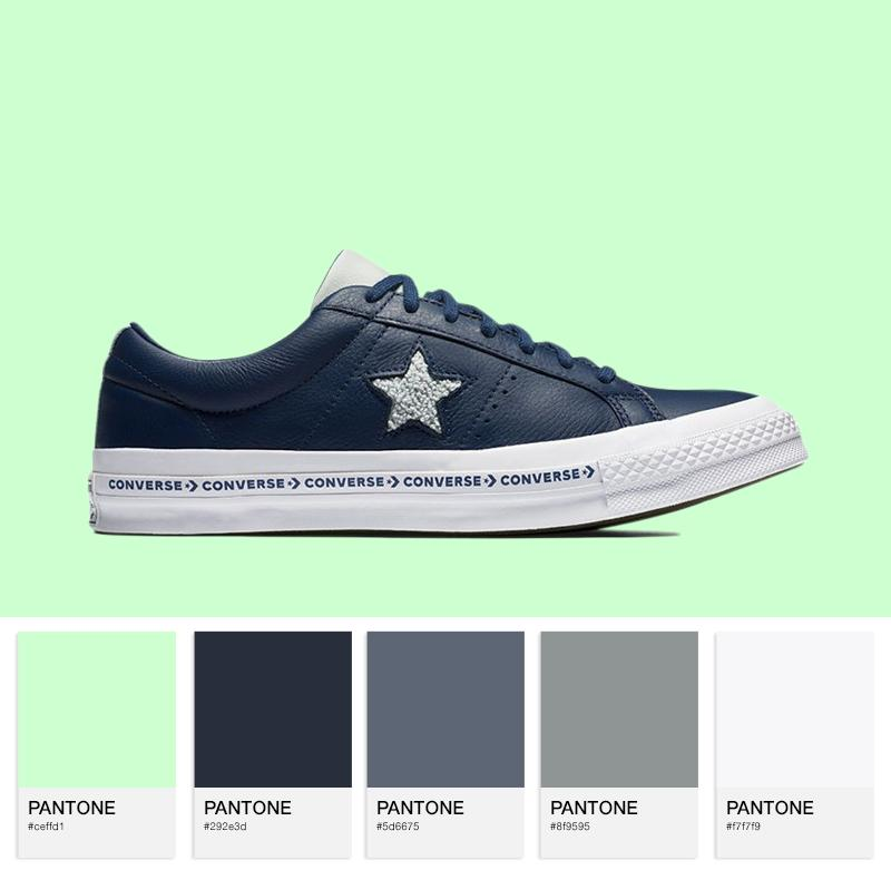 Converse One Star Pinstripe — Navy/Dried Bamboo
