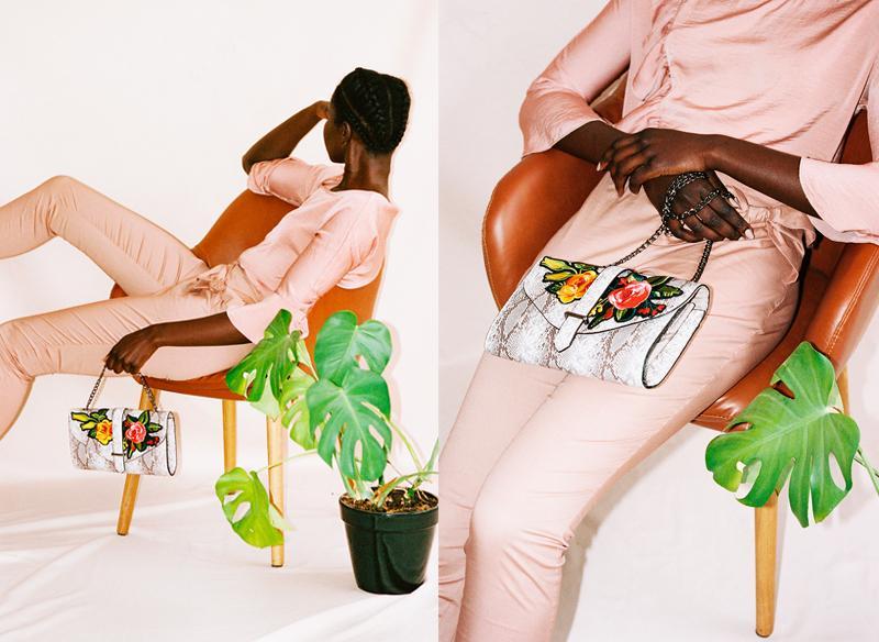 The embroidered handbag