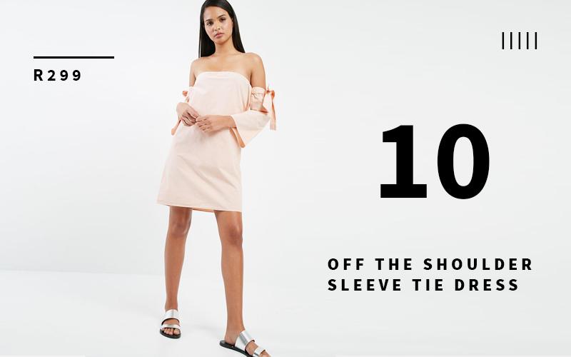 off the shoulder sleeve dress