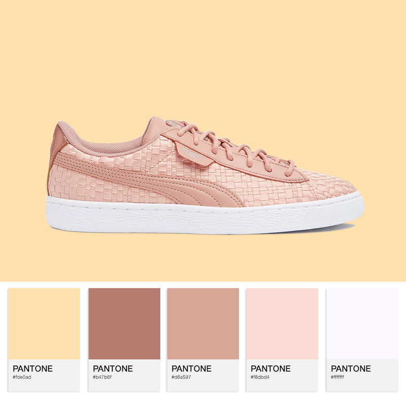 Puma Basket Satin - Peach Beige/Puma White