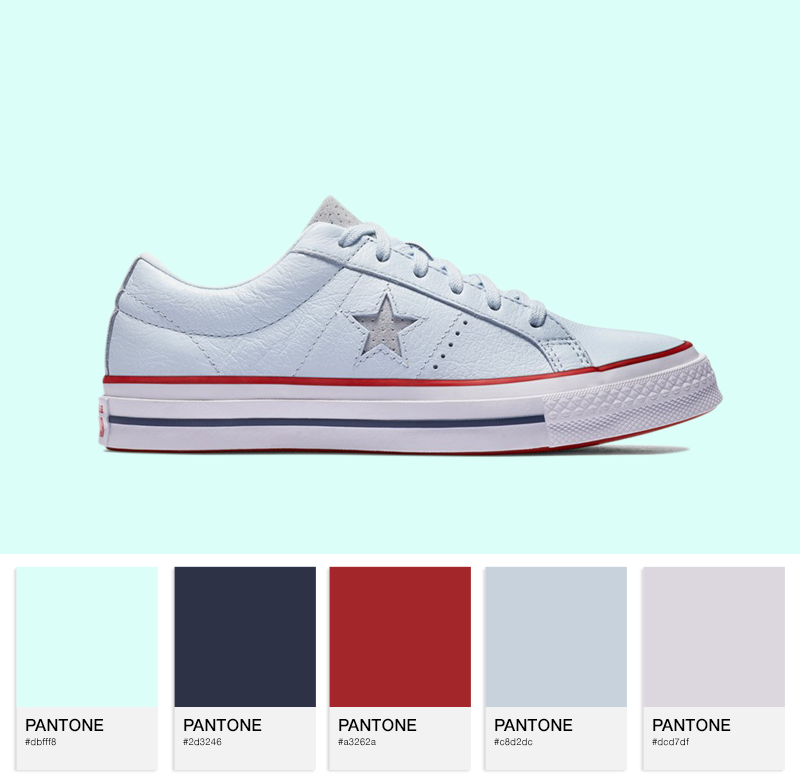 One Star — Blue Tint / Gym Red / White