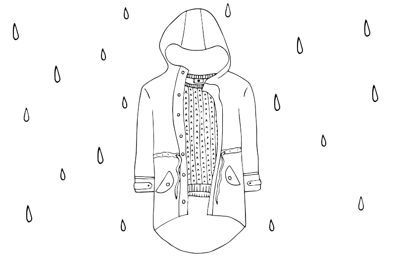 How to dress for wet weather