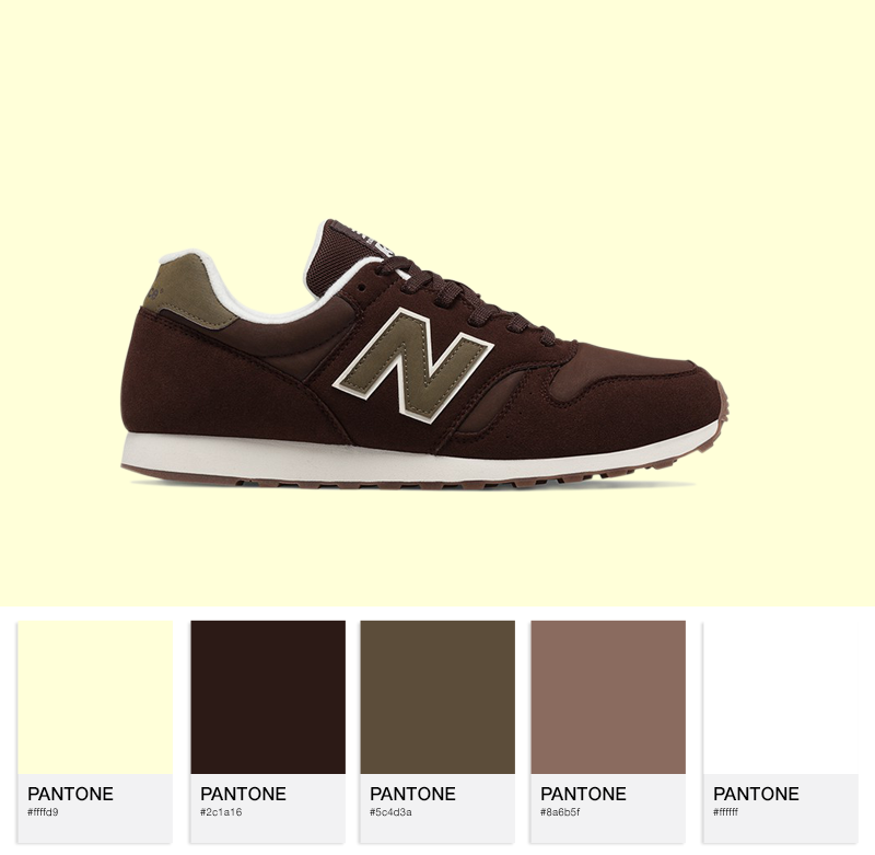 New Balance ML373BRS synthetic - Brown / Green