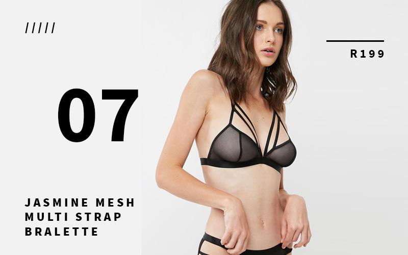 mesh lingerie set