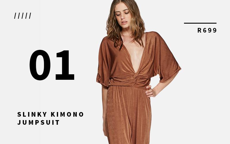 Slinky Kimono Jumpsuit