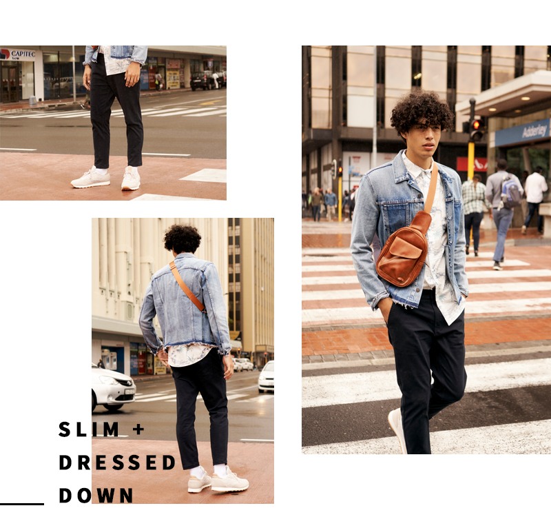 skinny and slim chinos