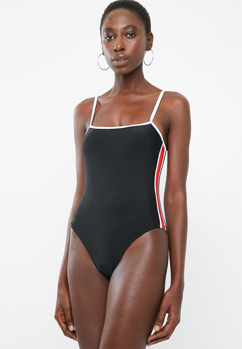 2e94e482c53e2 Retro one piece swimsuit - black Bacon Bikinis One Piece ...