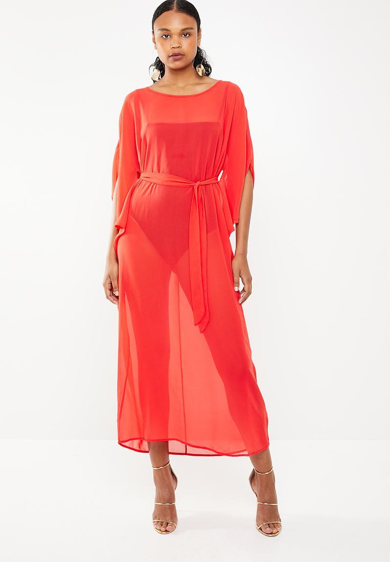 1b2cbd8bf59 Dramatic kaftan maxi dress - red STYLE REPUBLIC Casual