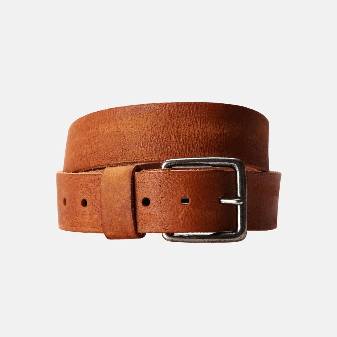 Our Light Brown Leather Belt is made from double shoulder cowhide leather. This leather belt is a one piece belt that will not come apart as many pieced leather belts do. Our brown belts are suitable for dress or casual wear.