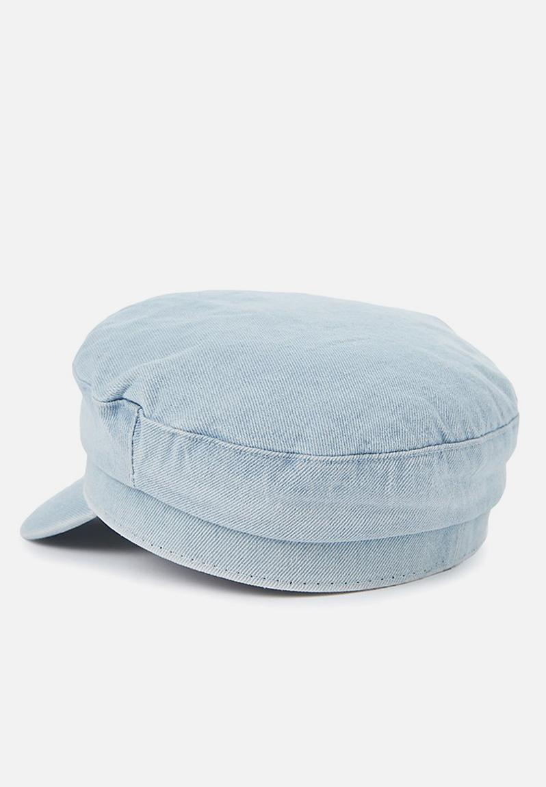 Bailey baker boy cap denim - blue Cotton On Headwear  e5b41d3587b