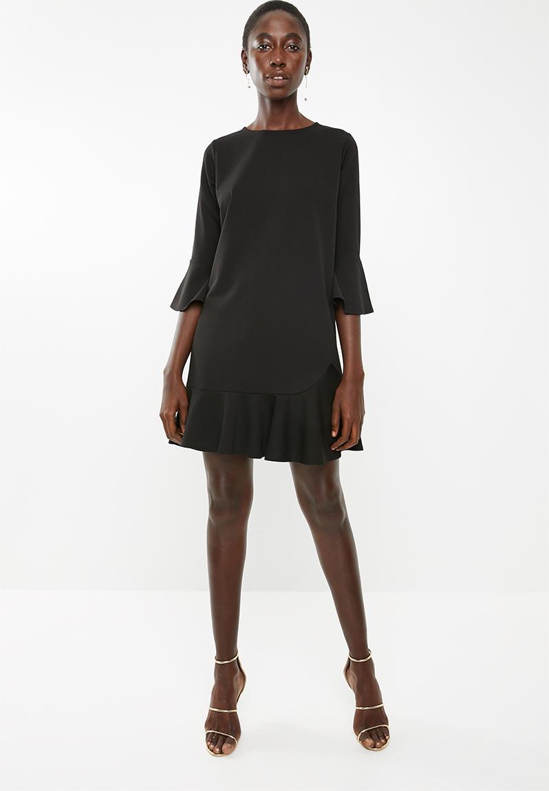 fa346f82aaa Long sleeve shift dress - black Superbalist Formal