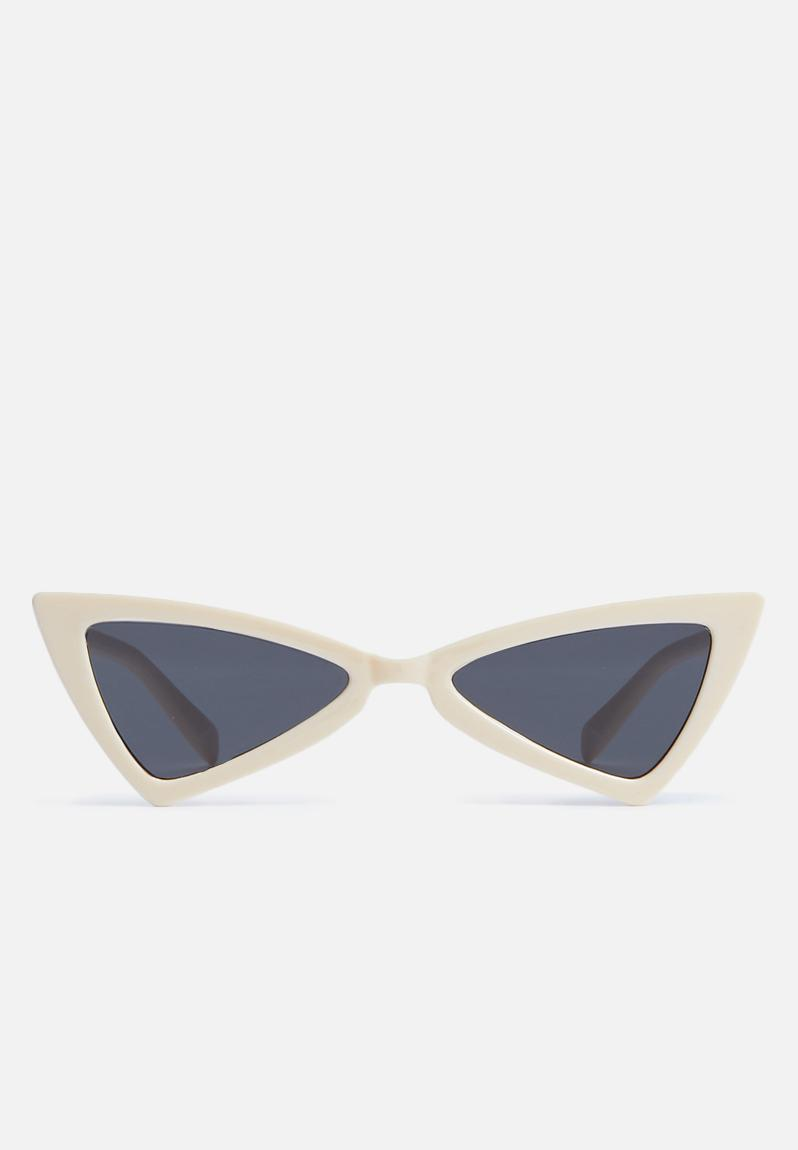 c3534f1979226 Winged cat eye sunglasses - cream Superbalist Eyewear