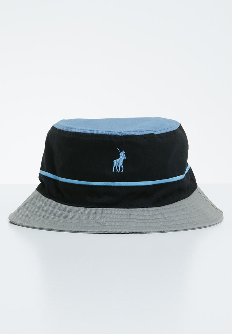 c9254685201656 Nautical monogram bucket hat - black, blue & grey POLO Headwear |  Superbalist.com