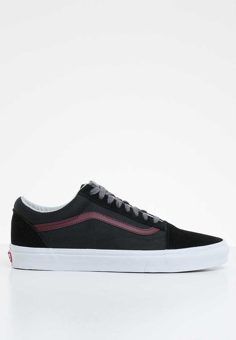 04797fd82c2b16 UA Old Skool - VA38G1UNI - (Jersey Lace) black port royale Vans Sneakers