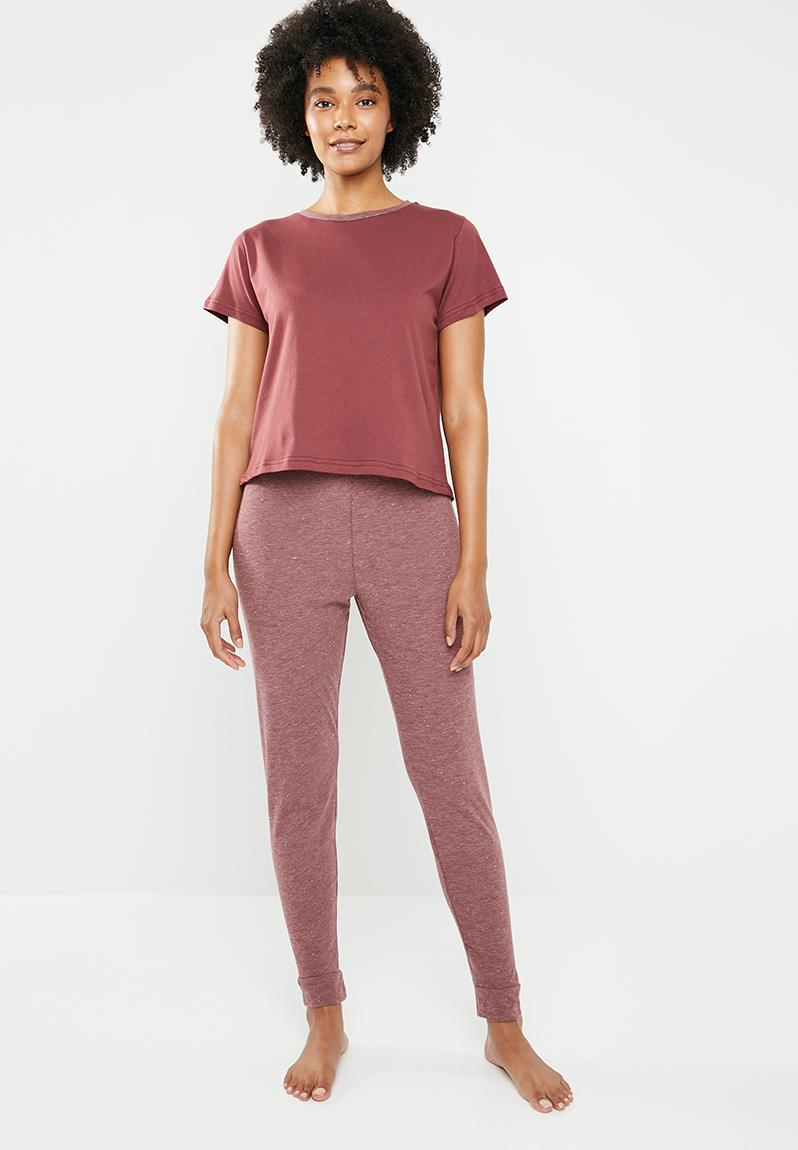 506b47dbb4a2 Sleepwear set - burgundy Superbalist Sleepwear